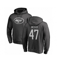 Football New York Jets #47 Trevon Wesco Ash One Color Pullover Hoodie