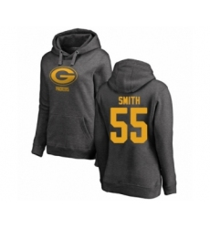 Football Women's Green Bay Packers #55 Za'Darius Smith Ash One Color Pullover Hoodie