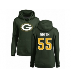 Football Women's Green Bay Packers #55 Za'Darius Smith Green Name & Number Logo Pullover Hoodie