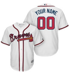 Men's Atlanta Braves Majestic White Home Cool Base Custom Jersey