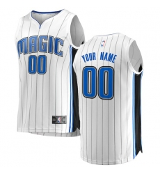 Men's Orlando Magic Fanatics Branded White Fast Break Custom Replica Jersey - Association Edition