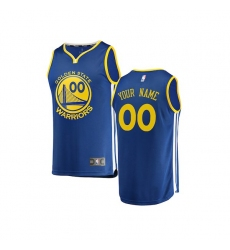 Youth Golden State Warriors Fanatics Branded Royal Fast Break Custom Replica Jersey - Icon Edition