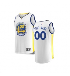 Youth Golden State Warriors Fanatics Branded White Fast Break Custom Replica Jersey - Association Edition