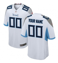Men's Tennessee Titans Nike White 2018 Custom Game Jersey