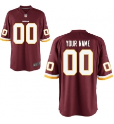 Men's Washington Redskins Nike Burgundy Custom Game Jersey