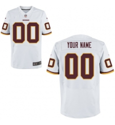 Mens Washington Redskins Nike White Custom Elite Jersey