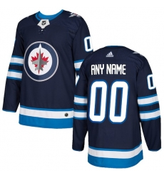 Men's Winnipeg Jets adidas Navy Authentic Custom Jersey