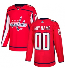 Women's Washington Capitals adidas Red Authentic Custom Jersey