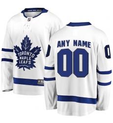 Men's Toronto Maple Leafs Fanatics Branded White Away Breakaway Custom Jersey