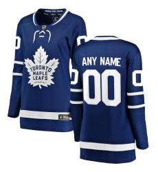 Women's Toronto Maple Leafs Fanatics Branded Blue Home Breakaway Custom Jersey