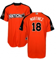 Men's Majestic St. Louis Cardinals #18 Carlos Martinez Authentic Orange National League 2017 MLB All-Star MLB Jersey