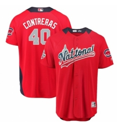 Men's Majestic Chicago Cubs #40 Willson Contreras Game Red National League 2018 MLB All-Star MLB Jersey