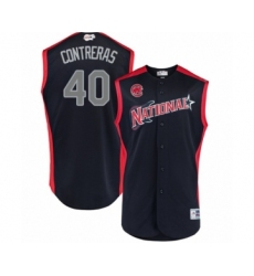 Youth Chicago Cubs #40 Willson Contreras Authentic Navy Blue National League 2019 Baseball All-Star Jersey