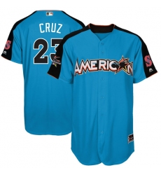 Men's Majestic Seattle Mariners #23 Nelson Cruz Authentic Blue American League 2017 MLB All-Star MLB Jersey