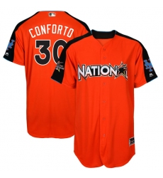 Men's Majestic New York Mets #30 Michael Conforto Authentic Orange National League 2017 MLB All-Star MLB Jersey