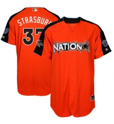 Men's Majestic Washington Nationals #37 Stephen Strasburg Replica Orange National League 2017 MLB All-Star MLB Jersey