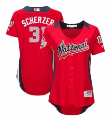 Women's Majestic Washington Nationals #31 Max Scherzer Game Red National League 2018 MLB All-Star MLB Jersey
