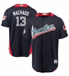 Men's Majestic Baltimore Orioles #13 Manny Machado Game Navy Blue American League 2018 MLB All-Star MLB Jersey