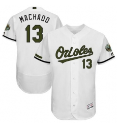 Men's Majestic Baltimore Orioles #13 Manny Machado White Flexbase Authentic Collection Memorial Day MLB Jersey