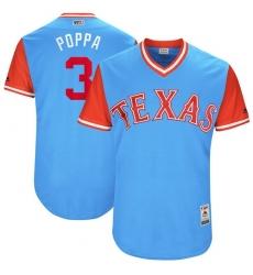 Men's Majestic Texas Rangers #3 Delino DeShields