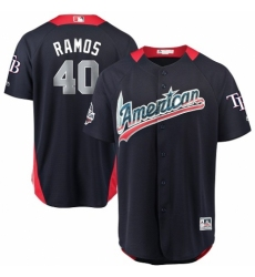 Men's Majestic Tampa Bay Rays #40 Wilson Ramos Game Navy Blue American League 2018 MLB All-Star MLB Jersey