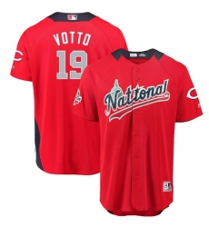 Men's Majestic Cincinnati Reds #19 Joey Votto Game Red National League 2018 MLB All-Star MLB Jersey
