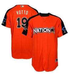 Youth Majestic Cincinnati Reds #19 Joey Votto Replica Orange National League 2017 MLB All-Star MLB Jersey