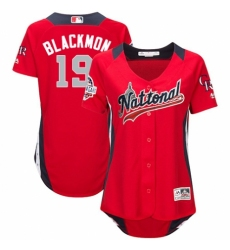 Women's Majestic Colorado Rockies #19 Charlie Blackmon Game Red National League 2018 MLB All-Star MLB Jersey