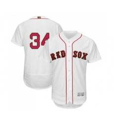 Men's Boston Red Sox #34 David Ortiz White 2019 Gold Program Flex Base Authentic Collection Baseball Jersey