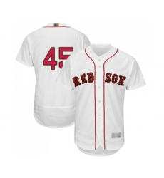 Men's Boston Red Sox #45 Pedro Martinez White 2019 Gold Program Flex Base Authentic Collection Baseball Jersey