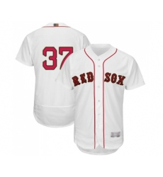 Men's Boston Red Sox #37 Bill Lee White 2019 Gold Program Flex Base Authentic Collection Baseball Jersey