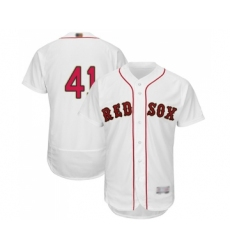 Men's Boston Red Sox #41 Chris Sale White 2019 Gold Program Flex Base Authentic Collection Baseball Jersey