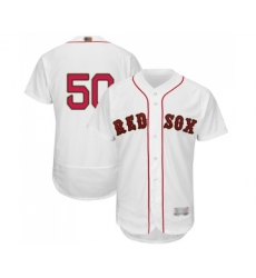 Men's Boston Red Sox #50 Mookie Betts White 2019 Gold Program Flex Base Authentic Collection Baseball Jersey