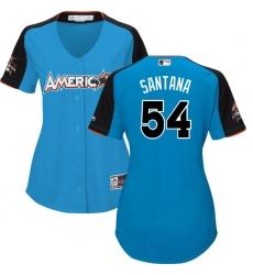 Women's Majestic Minnesota Twins #54 Ervin Santana Authentic Blue American League 2017 MLB All-Star MLB Jersey