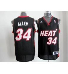 Revolution 30 Heat #34 Ray Allen Black Stitched NBA Jersey