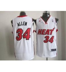 Revolution 30 Heat #34 Ray Allen White Stitched NBA Jersey