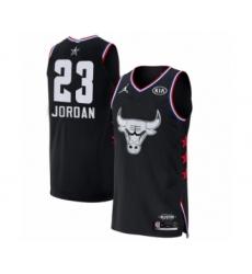 Men's Chicago Bulls #23 Michael Jordan Authentic Black 2019 All-Star Game