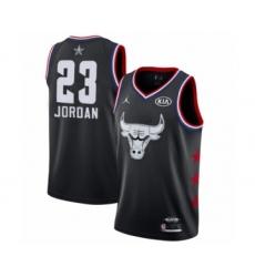 Men's Chicago Bulls #23 Michael Jordan Swingman Black 2019 All-Star Game