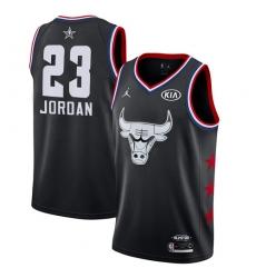 Men's Nike Chicago Bulls #23 Michael Jordan Black Basketball Jordan Swingman 2019 All-Star Game Jersey