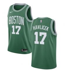 Men's Nike Boston Celtics #17 John Havlicek Green NBA Swingman Icon Edition Jersey