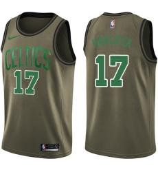 Men's Nike Boston Celtics #17 John Havlicek Green Salute to Service NBA Swingman Jersey