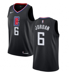 Men's Nike Los Angeles Clippers #6 DeAndre Jordan Authentic Black Alternate NBA Jersey Statement Edition