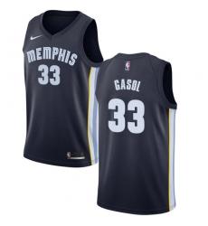 Men's Nike Memphis Grizzlies #33 Marc Gasol Swingman Navy Blue Road NBA Jersey - Icon Edition