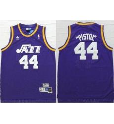 azz #44 Pete Maravich Purple Pistol Soul Swingman Stitched NBA Jersey