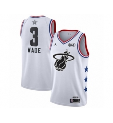 Women's Miami Heat #3 Dwyane Wade Swingman White 2019 All-Star Game Basketball Jersey