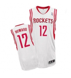 Revolution 30 Rockets #12 Dwight Howard White Home Stitched NBA Jersey