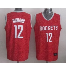 Rockets #12 Dwight Howard Red Crazy Light Stitched NBA Jersey