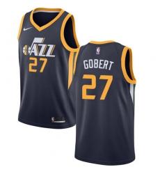 Men's Nike Utah Jazz #27 Rudy Gobert Swingman Navy Blue Road NBA Jersey - Icon Edition