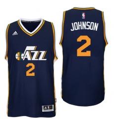 Utah Jazz #2 Joe Johnson Road Navy New Swingman Jersey