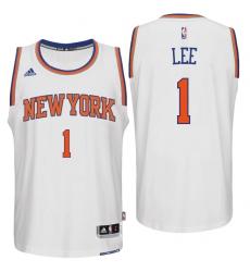 New York Knicks #1 Courtney Lee Home White New Swingman Jersey